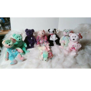 Ty Beanie Bears Bundle of 8 With TY Tags